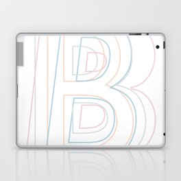 Intertwined Strength and Elegance of the Letter B Laptop & iPad Skin