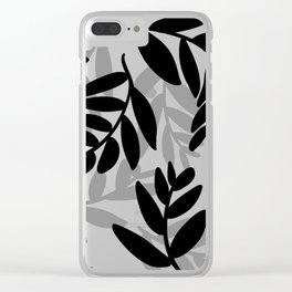 The Black Leaves Clear iPhone Case