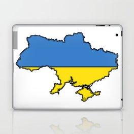 Ukraine Map with Ukrainian Flag Laptop & iPad Skin