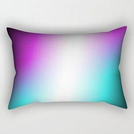 Vibrant Turquoise and Magenta Gradient Rectangular Pillow