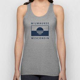 Milwaukee Wisconsin - Navy - People's Flag of Milwaukee Unisex Tank Top
