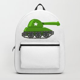 Cartoon Green Tank Backpack