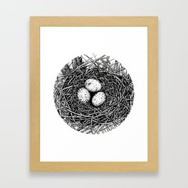 Ink Birds Nest Framed Art Print
