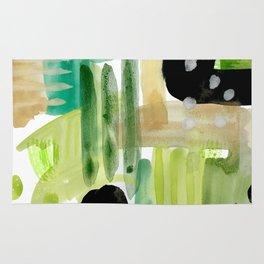 Garden Fern Abstract Rug