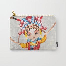 Beijing Opera Character HuSanNiang Carry-All Pouch
