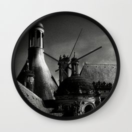 Château de Chambord II - Gothic Architecture Dark Creepy Eerie Scenery Wall Clock