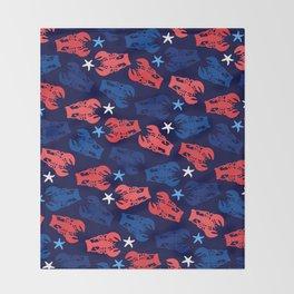 Lobsters Pattern Throw Blanket