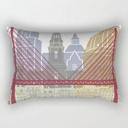 Copenhagen skyline poster Rectangular Pillow