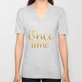 Once Upon a Time - Gold Unisex V-Neck