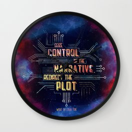 Want - Seize Control Wall Clock