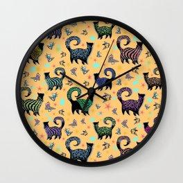 Fabulous Snobby Cats 2 Wall Clock