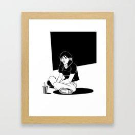 B&W Girl III Framed Art Print