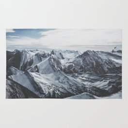 Snowy Mountains of Alberta Rug