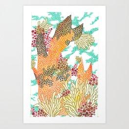 Coy Reef Art Print