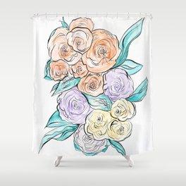 FLORAL ARRANGEMENT Shower Curtain