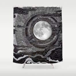 Moon Glow Shower Curtain