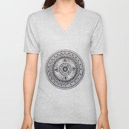Mandala black and white Unisex V-Neck