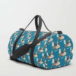Festive Winter Hut Duffle Bag