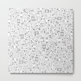 All Tech Line / Highly detailed computer circuit board pattern Metal Print