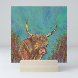 Highland Cow Mini Art Print
