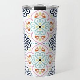 Pastel Moroccan Pattern Travel Mug