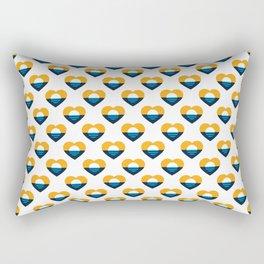 Heart of MKE - People's Flag of Milwaukee Rectangular Pillow