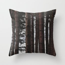 Through the Trees - Nature Photography Throw Pillow