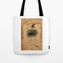 Wiseman And His Bird Of Knowledge. Tote Bag