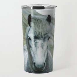 Grey Horse Travel Mug