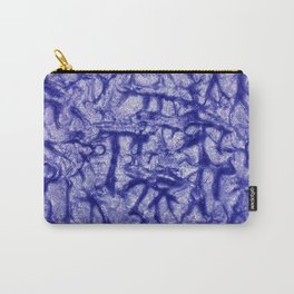 Blue Waves and Ripples Textured Wavelet Paint Art Carry-All Pouch