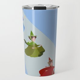 3 Fairies (Blue)  Travel Mug