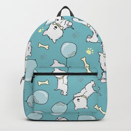 Hungry Westie Puppy Backpack