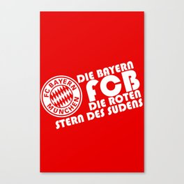 Slogan Bayern Munich Canvas Print