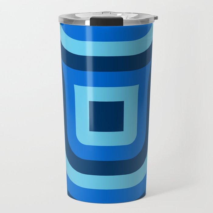 Blue Truchet Pattern Travel Mug