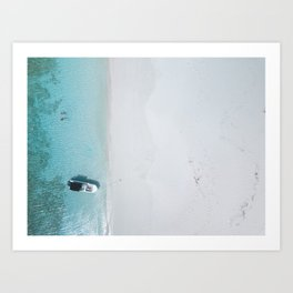 Private Island Swimming Art Print