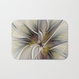 Floral Abstract, Fractal Art Bath Mat
