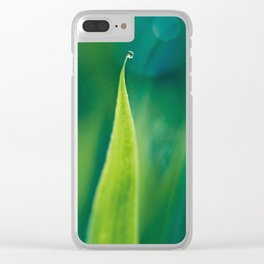 grass and bokeh Clear iPhone Case