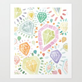 Facets No. 1 Art Print