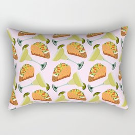 Tacos y Margaritas Pattern Rectangular Pillow