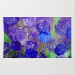 Breaking Dawn in Shades of Deep Blue and Purple Rug