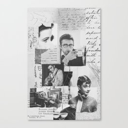 Creative Portrait Collage of 1950's Icons Canvas Print