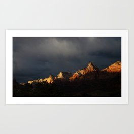 Storm Over Zion National Park Art Print