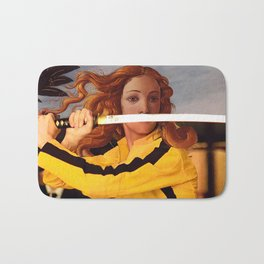 Botticelli's Venus & Beatrix Kiddo in Kill Bill Bath Mat
