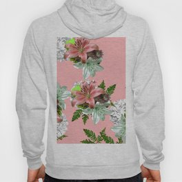 LILY PINK AND WHITE FLOWER Hoody