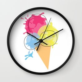 Paintball Cone Wall Clock