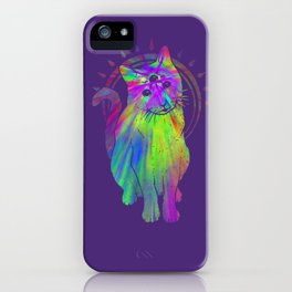 Psychedelic Psychic Cat iPhone Case