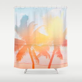 Tropicana seas - sundown Shower Curtain