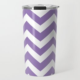 Purple mountain majesty - violet color - Zigzag Chevron Pattern Travel Mug