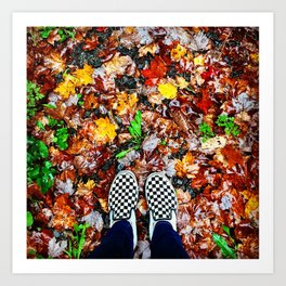Checkers on Autumn Art Print