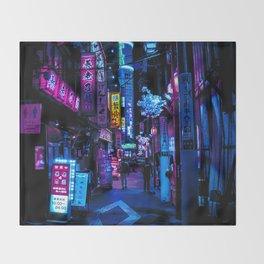 Tokyo's Blade Runner Vibes Throw Blanket